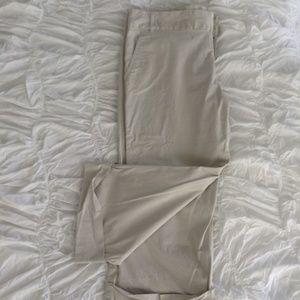 Tan Pant W/ Folded Hem